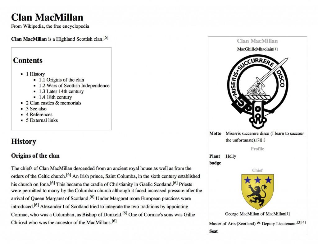 Clan MacMillan - Wikipedia, the free encyclopedia